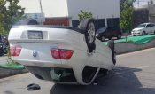 Vuelca automóvil en Apizaco
