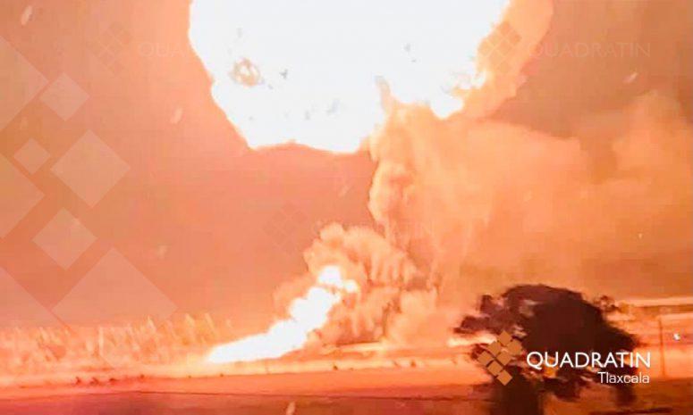 Brinda apoyó la Coordinación Estatal de Protección Tlaxcala en explosión, en el estado de Hidalgo