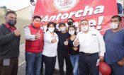 Recibe Anabell Ávalos respaldo de Antorcha Campesina