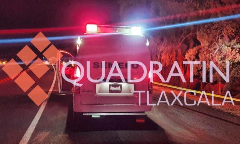 Muere hombre al ser atropellado por vehículo desconocido, en Teolocholco